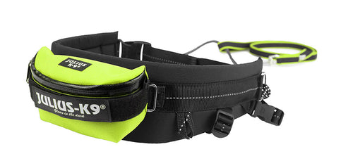Julius K-9 Jogging leash with Rubber leash and Waist Belt