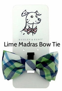 Huxley & Kent - Bow Ties Madras Lime Patterned