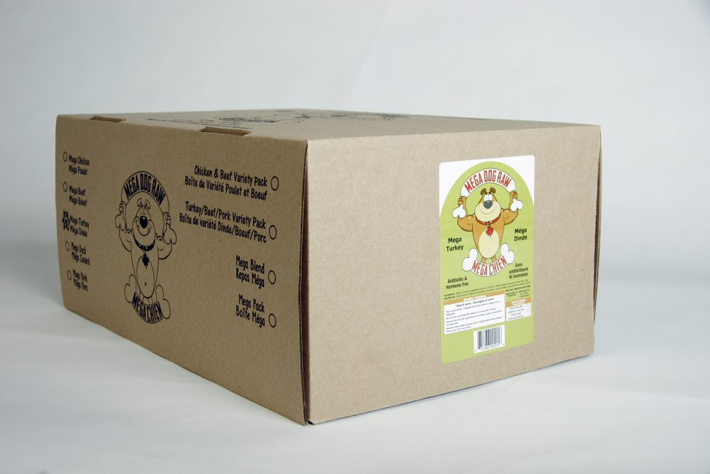 Mega Dog Raw Turkey Patties 24 lb