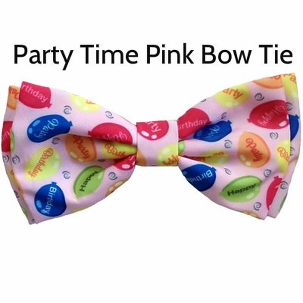 Party Time Pink Bow Ties made by Huxley and Kent