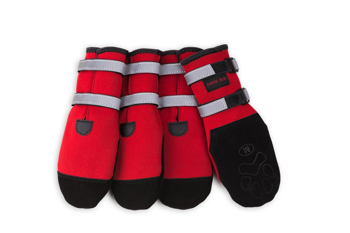 Pawsh Pad Paw Protectors - Boots in 7 Sizes - Black or Red