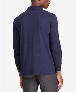 Navy Classic-Fit Long Sleeve Soft-Touch Polo