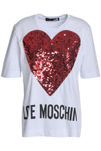 Load image into Gallery viewer, Embellished printed cotton-jersey T-shirt - GLAMZE