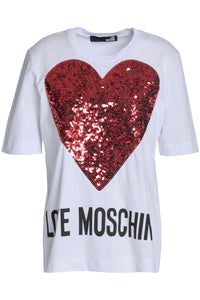 Embellished printed cotton-jersey T-shirt - GLAMZE