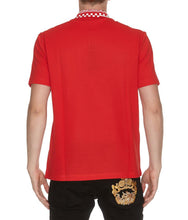 Load image into Gallery viewer, Versace Patterned Collar Polo Shirt
