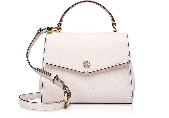 Birch Leather Robinson Small Top-Handle Satchel Bag - GLAMZE