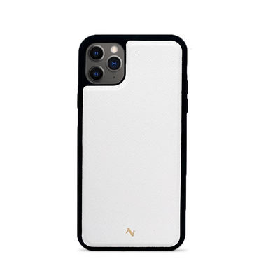 MAAD Classic - White IPhone 11 Pro Max Leather Case