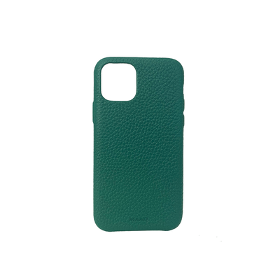 Pebble - Moss Green IPhone 11 Case - MAAD Collective - Saffiano IPhone Personalized Case