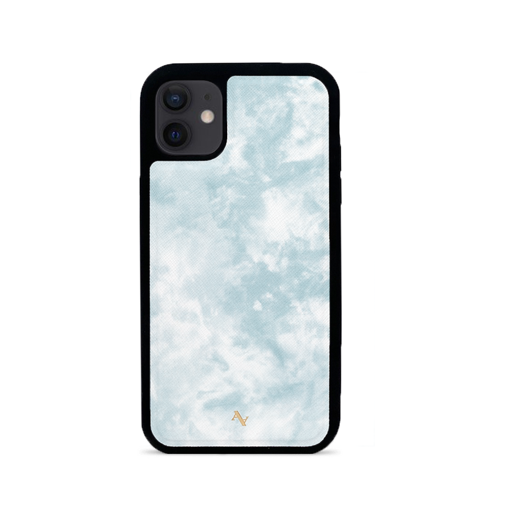 Tie Dye Blue Fever - IPhone 12 Leather Case