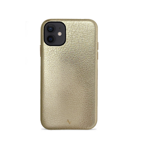 Pebble - Gold Metallic IPhone 12 Case