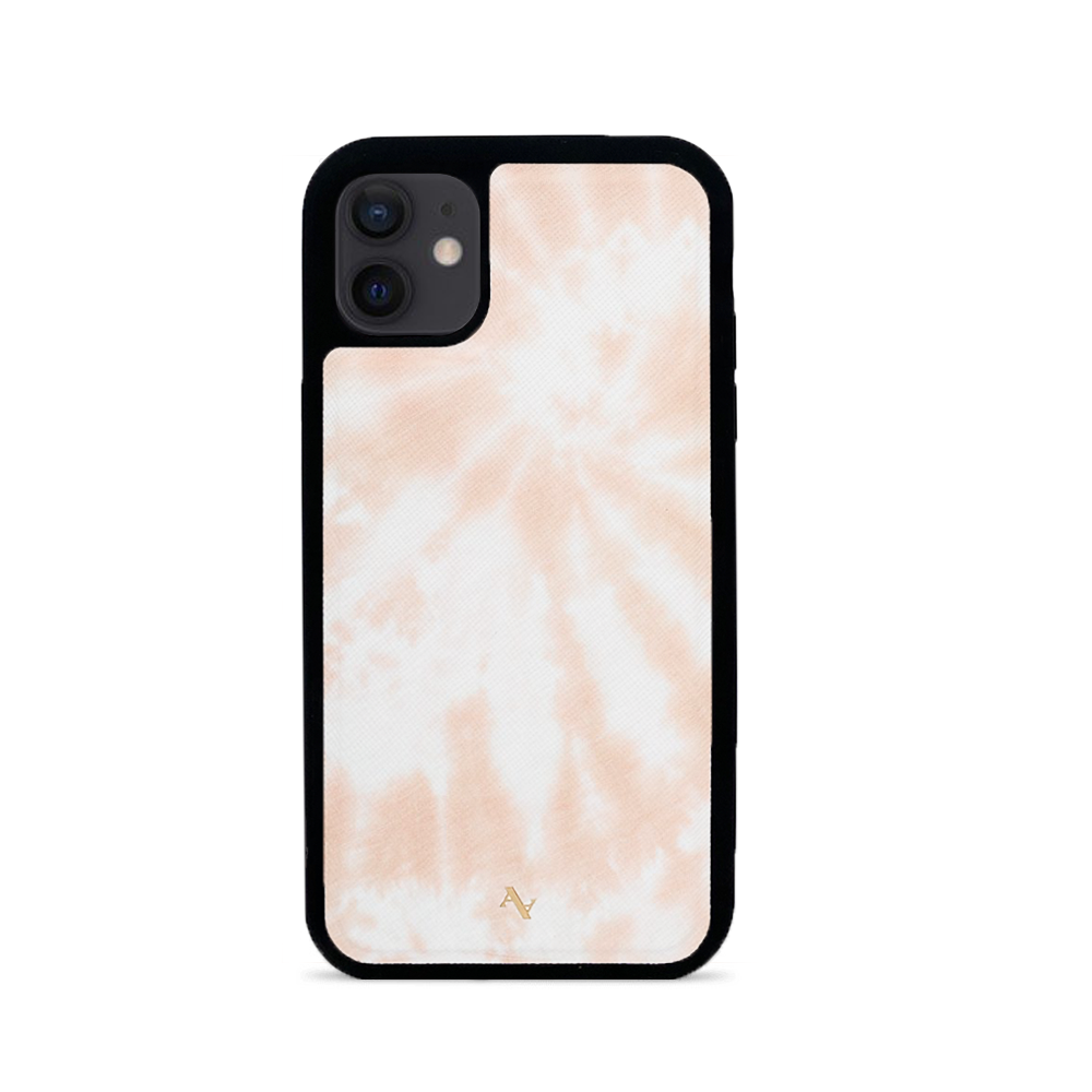 Tie Dye Melon Fever - IPhone 12 Leather Case