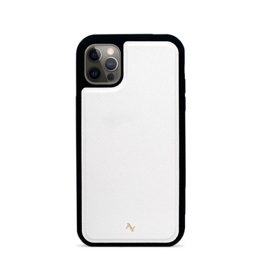 MAAD Classic - White IPhone 12 Pro Leather Case
