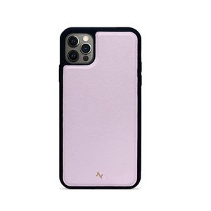 Light Pink Leather IPhone 12 Pro Max Case - MAAD Collective - Saffiano IPhone Personalized Case