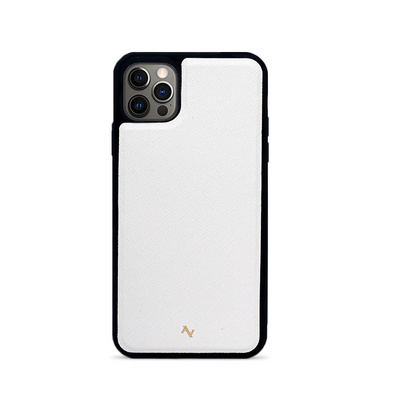 (Pre Order) MAAD Classic - White IPhone 12 Pro Max Leather Case