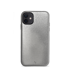 Pebble - Silver Metallic IPhone 12 Case