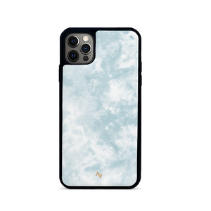 Tie Dye Blue Fever - IPhone 12 Pro Leather Case