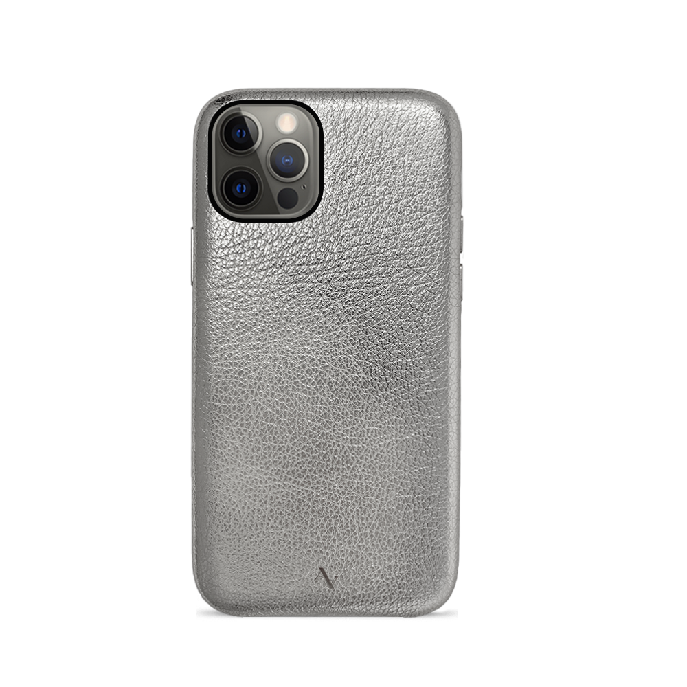 Pebble - Silver Metallic IPhone 12 Pro Case
