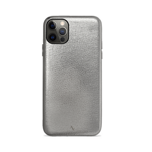 Pebble - Silver Metallic IPhone 12 Pro Max Case