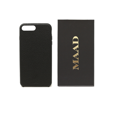 Pebble - Black IPhone 7/8 Plus Case - MAAD Collective - Saffiano IPhone Personalized Case