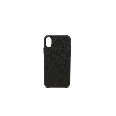 Pebble - Black IPhone X/XS Case - MAAD Collective - Saffiano IPhone Personalized Case