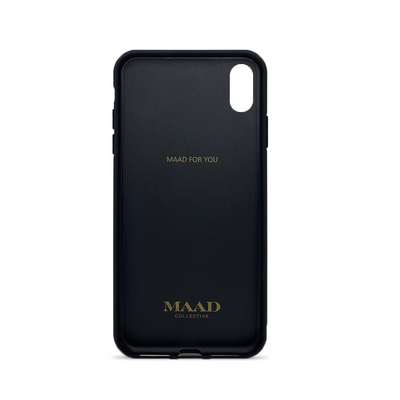 MAAD Classic - Black IPhone XS MAX Leather Case
