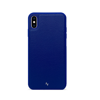 MAAD Classic - All Blue IPhone XS MAX Leather Case