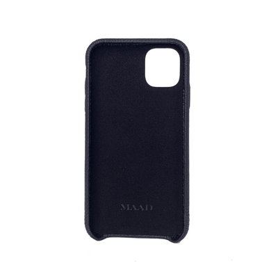 MAAD LVR Black IPhone 11 Case - MAAD Collective - Saffiano IPhone Personalized Case