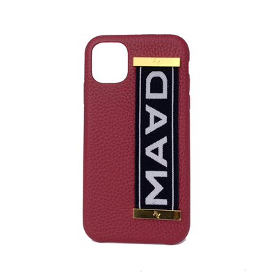 MAAD LVR Red IPhone 11 Case - MAAD Collective - Saffiano IPhone Personalized Case