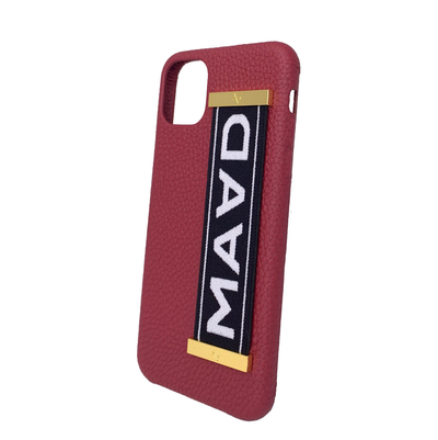 MAAD LVR Red IPhone 11 Pro Max Case - MAAD Collective - Saffiano IPhone Personalized Case