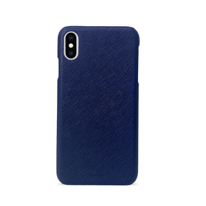 For All - Navy Blue IPhone XS MAX Case - MAAD Collective - Saffiano IPhone Personalized Case