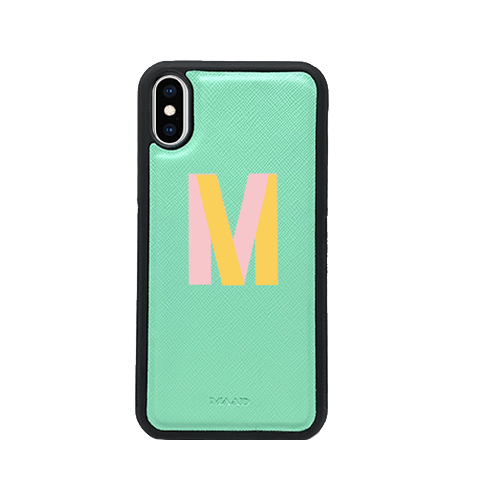 Saffiano - Funda Menta IPhone XS Max