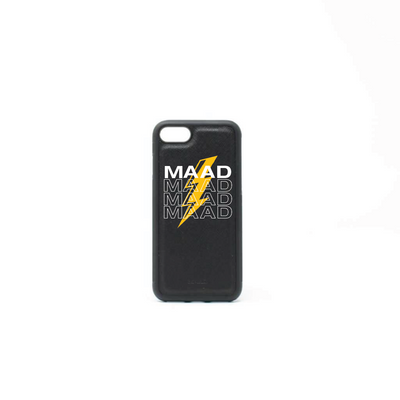 Multigram - Black IPhone 7/8 Case - MAAD Collective - Saffiano IPhone Personalized Case