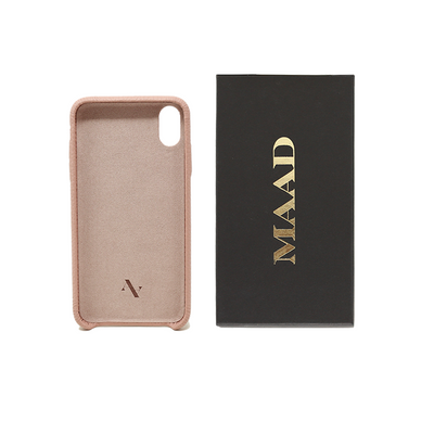 Pebble - Nude IPhone XS MAX Case - MAAD Collective - Saffiano IPhone Personalized Case