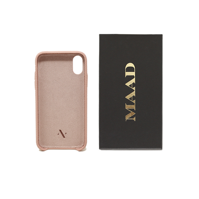 Pebble - Nude IPhone X/XS Case - MAAD Collective - Saffiano IPhone Personalized Case