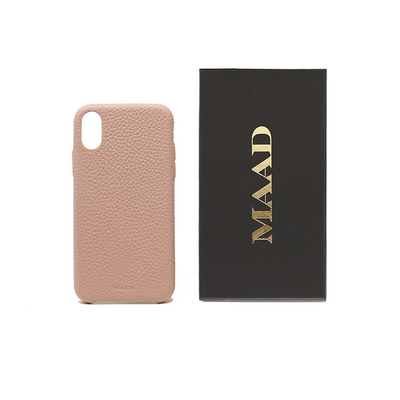 Pebble - Nude IPhone XR Case - MAAD Collective - Saffiano IPhone Personalized Case