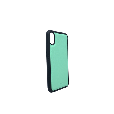 Mint IPhone X/XS Case - MAAD Collective - Saffiano IPhone Personalized Case