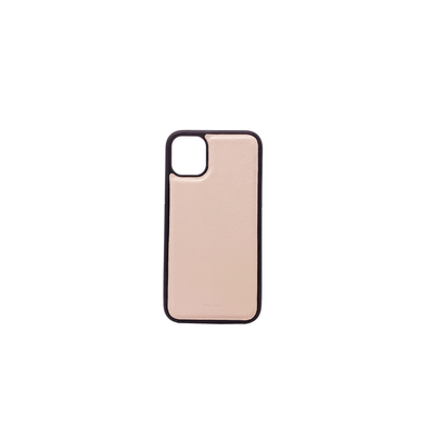 Nude IPhone 11 Case - MAAD Collective - Saffiano IPhone Personalized Case