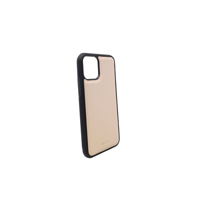 Nude IPhone 11 Pro Case - MAAD Collective - Saffiano IPhone Personalized Case