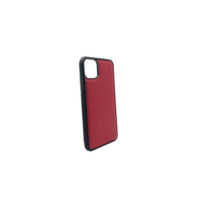 Red IPhone 11 Pro Max Case - MAAD Collective - Saffiano IPhone Personalized Case