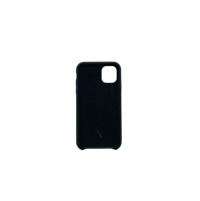 Pebble - Black IPhone 11 Case - MAAD Collective - Saffiano IPhone Personalized Case