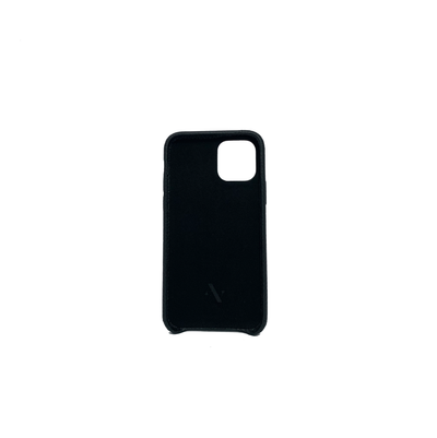 Pebble - Black IPhone 11 Pro Case - MAAD Collective - Saffiano IPhone Personalized Case