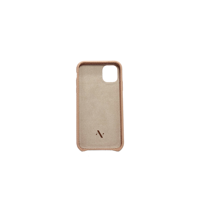 Pebble - Nude IPhone 11 Case - MAAD Collective - Saffiano IPhone Personalized Case