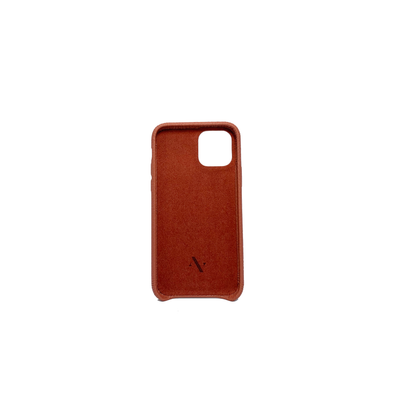 Pebble - Terracotta IPhone 11 Pro Case - MAAD Collective - Saffiano IPhone Personalized Case