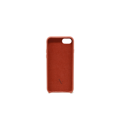 Pebble - Terracotta IPhone 7/8 Case - MAAD Collective - Saffiano IPhone Personalized Case