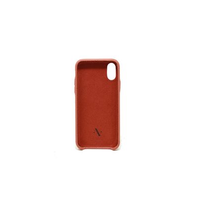 Pebble - Terracotta IPhone X/XS Case - MAAD Collective - Saffiano IPhone Personalized Case