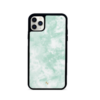 Tie Dye Green Fever - IPhone 11 Pro Max Leather Case