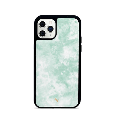 Tie Dye Green Fever - IPhone 11 Pro Leather Case