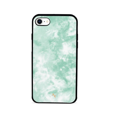 Tie Dye Green Fever - IPhone 7/8/SE Leather Case