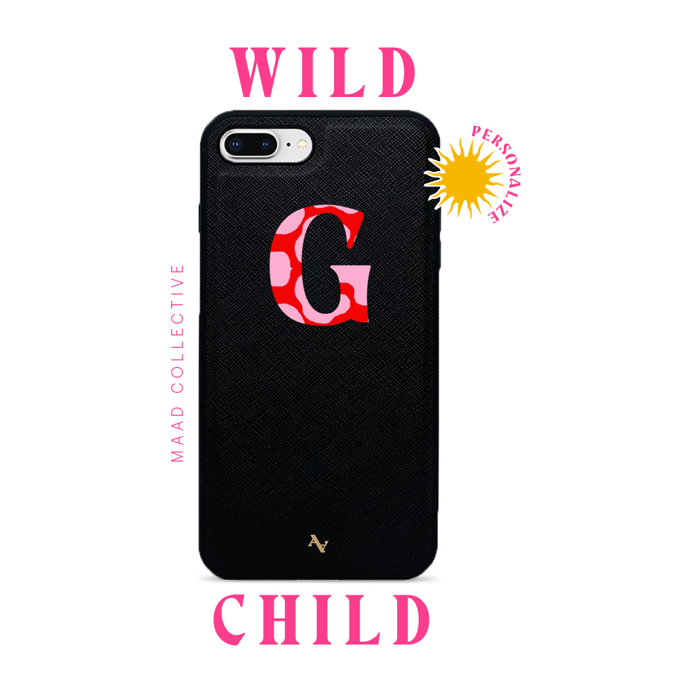 Wild Child - Black IPhone 7/8 Plus Leather Case
