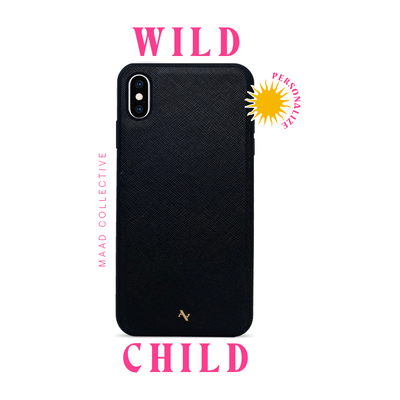 Wild Child - Black IPhone XS MAX Leather Case